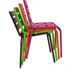 CHAISE METAL COULEUR