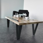 table basse esprit industriel chic