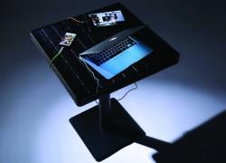 table terrasse rechargeable à lénergie solaire