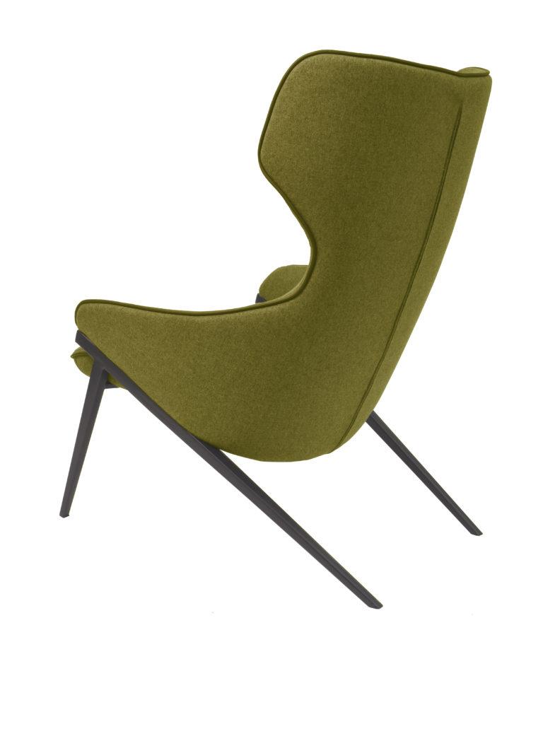 Le fauteuil Harold tout en velours