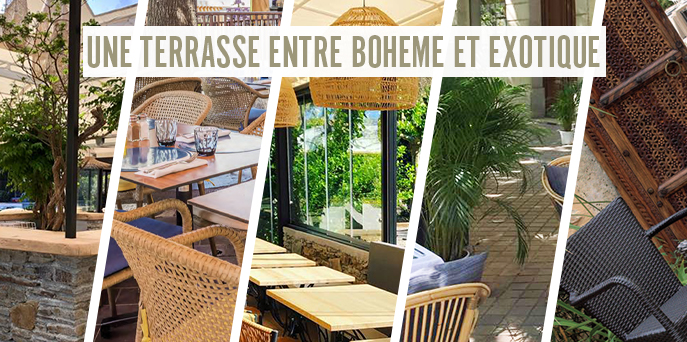 Terrasse bohéme & exotique